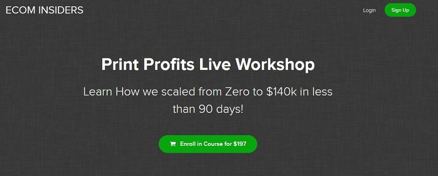 James Beattie - Print Profits Live Workshop (Scaled From Zero to $140k In Less Than 90 Days)